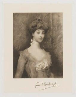 Consuelo (née Vanderbilt), Duchess of Marlborough (later Mrs Balsan), by Frederick John Jenkins, after  Heller, early 20th century - NPG D38261 - © National Portrait Gallery, London