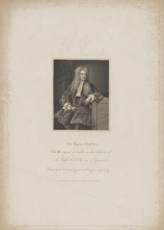 Sir Isaac Newton, by William Thomas Fry, published by  Harding & Lepard, after  William Derby, after  Sir Godfrey Kneller, Bt - NPG D38740