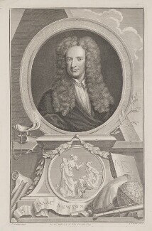 Sir Isaac Newton, by Jacobus Houbraken, after  Sir Godfrey Kneller, Bt - NPG D38742