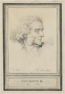 John Martin, by Charles Martin - NPG D38284