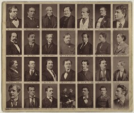 Group of 29 actors, after Lock & Whitfield, and  Elliott & Fry, and  Fradelle & Marshall, and  Pierre Petit, and  Louis Bertin, and  Unknown photographers, late 1870s - NPG x132955 - © National Portrait Gallery, London