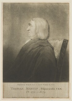 Thomas Martin, by Thomas Hodgetts, published for  William Richard Beckford Miller, after  Thomas Cook, after  Sir John Fenn - NPG D38291