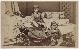 The children of King Edward VII when Prince of Wales, by W. & D. Downey - NPG x133414