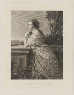Angelita Helena Margarita (née de Silva Ferro), Lady Martin-Harvey, by Ferdinand Jean de la Ferté Joubert, published by  Goupil & Co, after  (Wilhelm Augustus) Rudolf Lehmann - NPG D38295