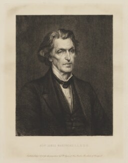James Martineau, by Paul Adolphe Rajon, published by  Thomas Agnew & Sons Ltd, after  George Frederic Watts - NPG D38299