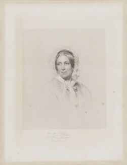 Harriet Martineau, by Francis Holl, after  George Richmond, (1849) - NPG D38300 - © National Portrait Gallery, London
