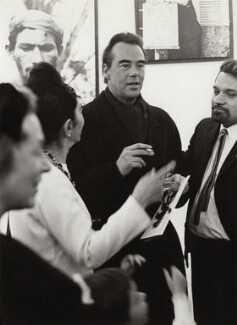 Ida Kar; Victor Musgrave and Pablo Armando Fernández at the opening of 'Ida Kar in Cuba', by Unknown photographer - NPG x134028