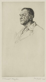 Somerset Maugham, by Hubert Andrew Freeth - NPG D38325