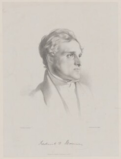 (John) Frederick Denison Maurice, by (Isaac) Weld Taylor, published by  Joseph Hogarth, after  Samuel Laurence - NPG D38329