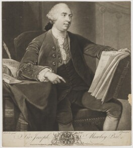 Sir Joseph Mawbey, 1st Bt, by John Dixon, printed for  John Bowles, after  Robert Edge Pine - NPG D38332