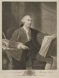 Sir Joseph Mawbey, 1st Bt, by John Dixon, printed for  John Bowles, after  Robert Edge Pine - NPG D38333