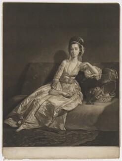 Anne ('Nancy') Maynard (née Parsons), Viscountess Maynard, by James Watson, after  George Willison - NPG D38340