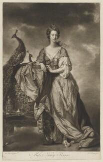 Anne ('Nancy') Maynard (née Parsons), Viscountess Maynard as Juno, by James Watson, after  Tilly Kettle - NPG D38341