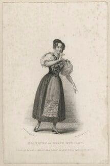 Elizabeth Yates (née Brunton) in 'Grace Huntley', by Thomas Woolnoth, published by  John Cumberland, after  Thomas Charles Wageman - NPG D38550