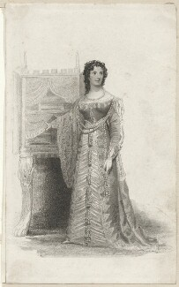 Sarah West (née Cooke) as Portia in Shakespeare's 'Merchant of Venice', by Thomas Charles Wageman, published by  John Cumberland, after  Thomas Woolnoth, published 1826 - NPG  - © National Portrait Gallery, London