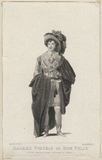 Madame Vestris as Don Felix, by Thomas Woolnoth, published by  Thomas Dolby, after  Thomas Charles Wageman - NPG D38554