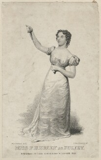 Frances Harriet Kelly as Juliet, by Thomas Woolnoth, published by  John Cumberland, after  Thomas Charles Wageman - NPG D38555