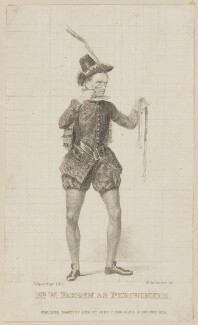 William Farren as Periwinkle, by Thomas Woolnoth, published by  John Cumberland, after  Thomas Charles Wageman - NPG D38557