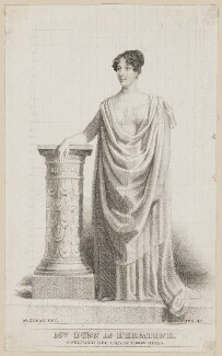 Margaret Agnes Bunn (née Somerville) as Hermione in 'A Winter's Tale', by Thomas Woolnoth, published by  Thomas Dolby, after  Thomas Charles Wageman, published 4 December 1823 - NPG  - © National Portrait Gallery, London
