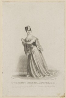 Fanny Kemble as Euphrasia, by Thomas Woolnoth, published by  John Cumberland, after  Thomas Charles Wageman - NPG D38560