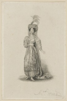 Mary Ann Paton (Mrs Wood) as Mandane, by Thomas Woolnoth, after  Thomas Charles Wageman - NPG D38561