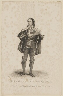 James Sheridan Knowles in 'Master Walter', by Thomas Woolnoth, published by  John Cumberland, after  Thomas Charles Wageman - NPG D38563