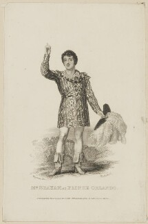 John Braham as Prince Orlando, by Thomas Woolnoth, published by  John Cumberland, after  Thomas Charles Wageman - NPG D38569