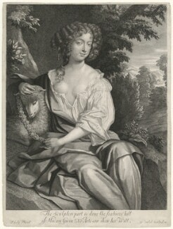Nell Gwyn, by Gerard Valck, after  Sir Peter Lely - NPG D10959