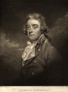 Sir Brooke Boothby, 6th Bt, by John Raphael Smith, after  Sir Joshua Reynolds - NPG D10962
