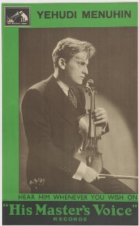 Yehudi Menuhin, after DeBellis - NPG D38369