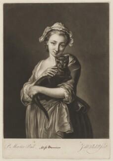 Charlotte Mercier, by James Macardell, after  Philip Mercier - NPG D38372