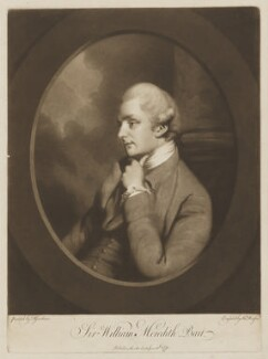 Sir William Meredith, 3rd Bt, by Thomas Watson, after  Daniel Gardner - NPG D38373