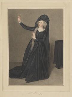 Anne Merry (née Brunton) as Calista, by Samuel De Wilde - NPG D38375