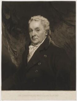 Sir Thomas Theophilus Metcalfe, Bt, by William Ward, after  John Hoppner - NPG D38378