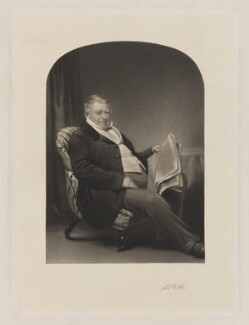 Unknown man, formerly known as Sir Henry Meux, 1st Bt, by Unknown artist - NPG D38388