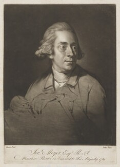 Jeremiah Meyer, by William Pether, after  Nathaniel Dance (later Sir Nathaniel Holland, Bt) - NPG D38393
