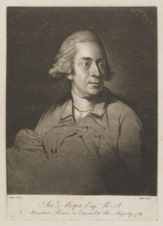 Jeremiah Meyer, by William Pether, after  Nathaniel Dance (later Sir Nathaniel Holland, Bt), 1789 - NPG D38394 - © National Portrait Gallery, London