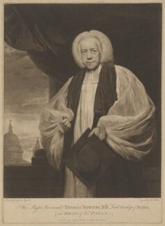 Thomas Newton, by and published for Thomas Watson, after  Sir Joshua Reynolds - NPG D38748