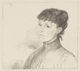 Alice Meynell (née Thompson), by William Rothenstein - NPG D38397