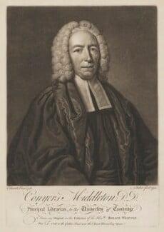 Conyers Middleton, by John Faber Jr, after  John Giles Eccardt - NPG D38402