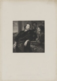 George Gage and two unknown men, by John Henry Robinson, published by  John Pye, after  Sir Anthony van Dyck - NPG D38808