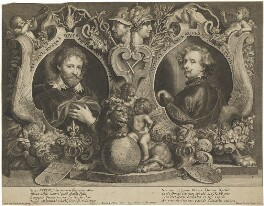 Sir Peter Paul Rubens; Sir Anthony van Dyck, by Paulus Pontius (Paulus Du Pont), after  Sir Anthony van Dyck - NPG D38809