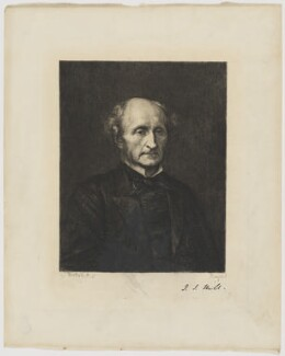 John Stuart Mill, by Paul Adolphe Rajon, after  George Frederic Watts - NPG D38409