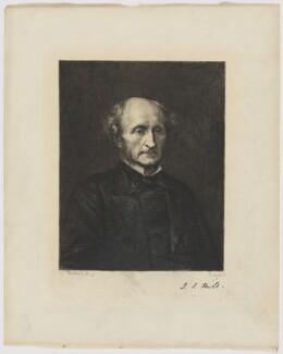 John Stuart Mill, by Paul Adolphe Rajon, after  George Frederic Watts, (1873) - NPG D38409 - © National Portrait Gallery, London