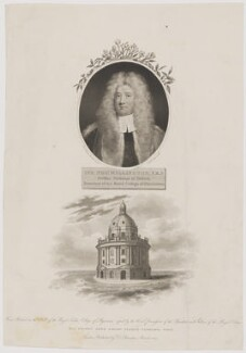 Sir Thomas Millington, by Thomas Woolnoth, published by  Robert John Thornton, after  Sir Godfrey Kneller, Bt - NPG D38412
