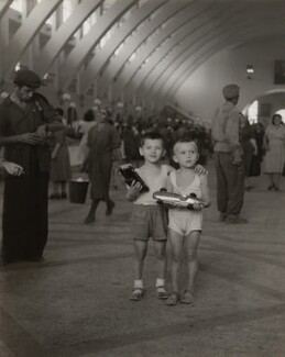 'The interior of the Yerevan closed market', by Ida Kar, 1957 - NPG  - © National Portrait Gallery, London