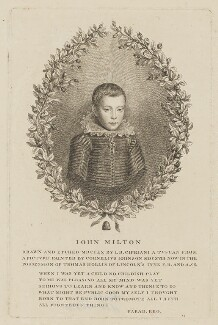 John Milton, by Giovanni Battista Cipriani, after  Cornelius Johnson (Cornelius Janssen van Ceulen) - NPG D38830