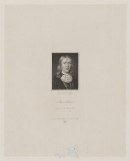 John Milton, by Charles Pye, after  Cornelius Johnson (Cornelius Janssen van Ceulen) - NPG D38833