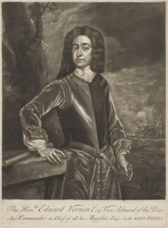 Edward Vernon, after Unknown artist - NPG D39233