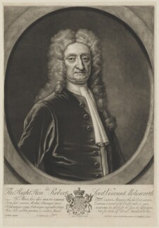 Robert Molesworth, 1st Viscount Molesworth, by Peter Pelham, sold by  Edward Cooper, after  Thomas Gibson - NPG D38852